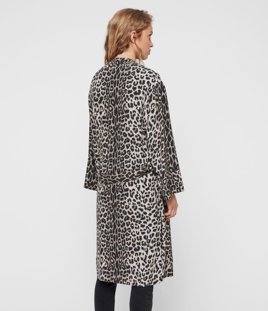Womens Esme Leppo Kimono (leopard_yellow) - Image 4