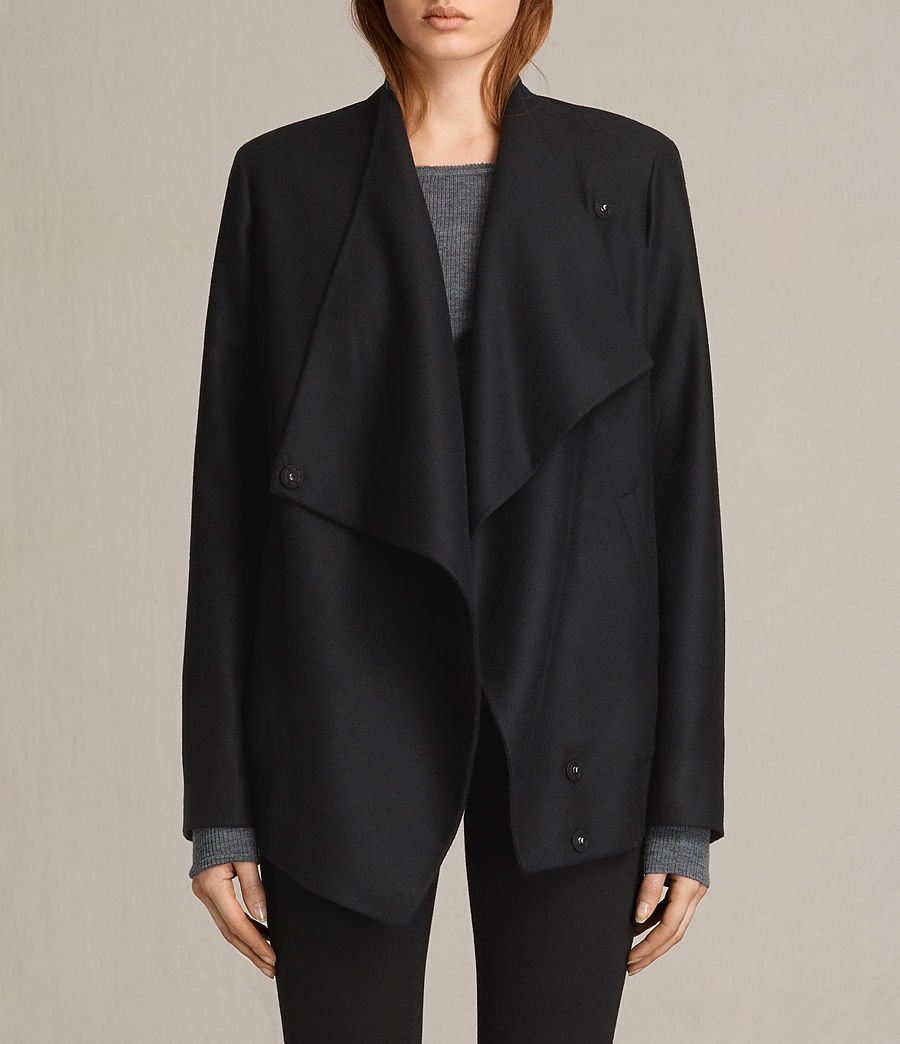 Women's Lora Rib Jacket (black) - Image 1