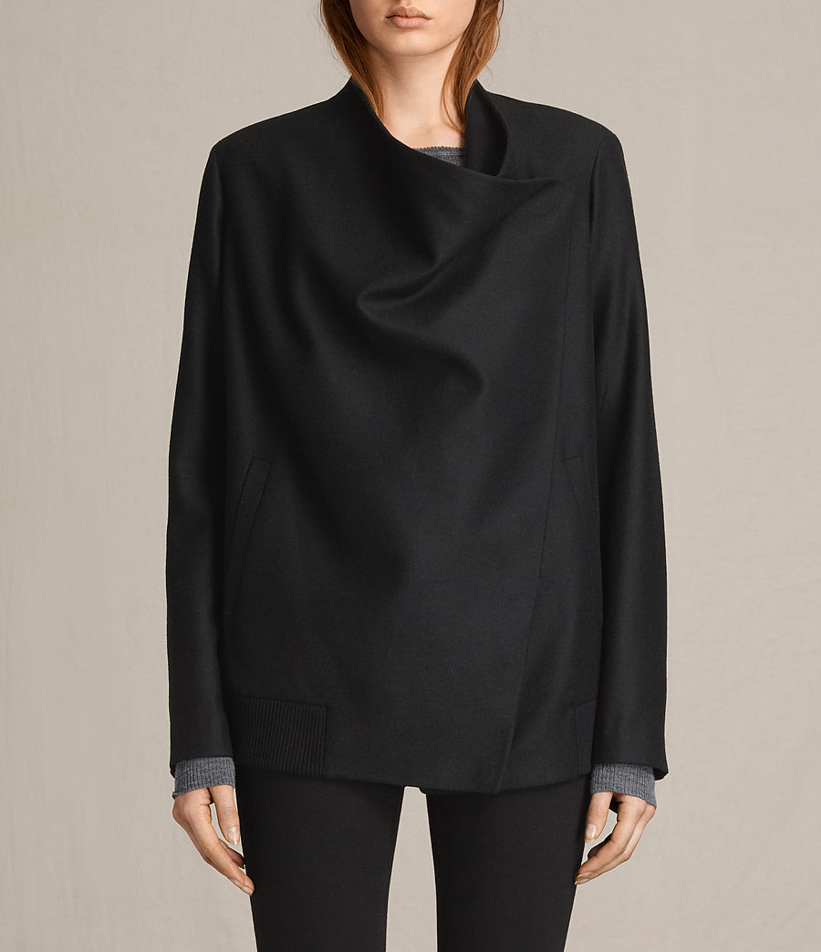 Women's Lora Rib Jacket (black) - Image 2