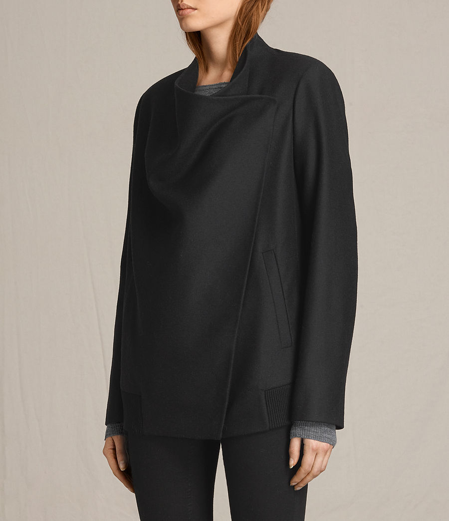 Women's Lora Rib Jacket (black) - Image 3