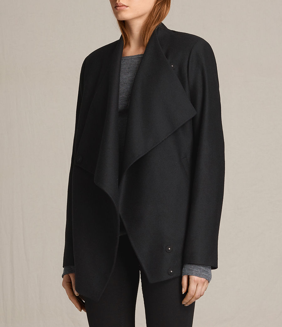 Women's Lora Rib Jacket (black) - Image 5