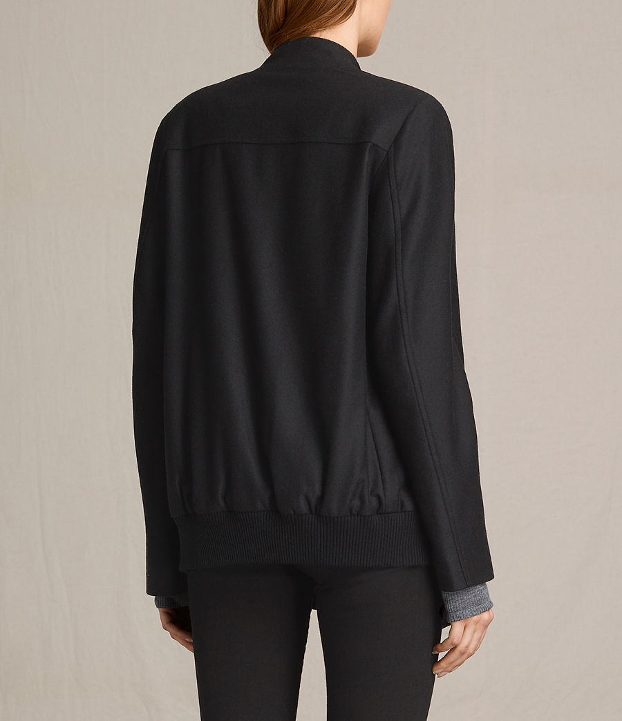 Women's Lora Rib Jacket (black) - Image 6