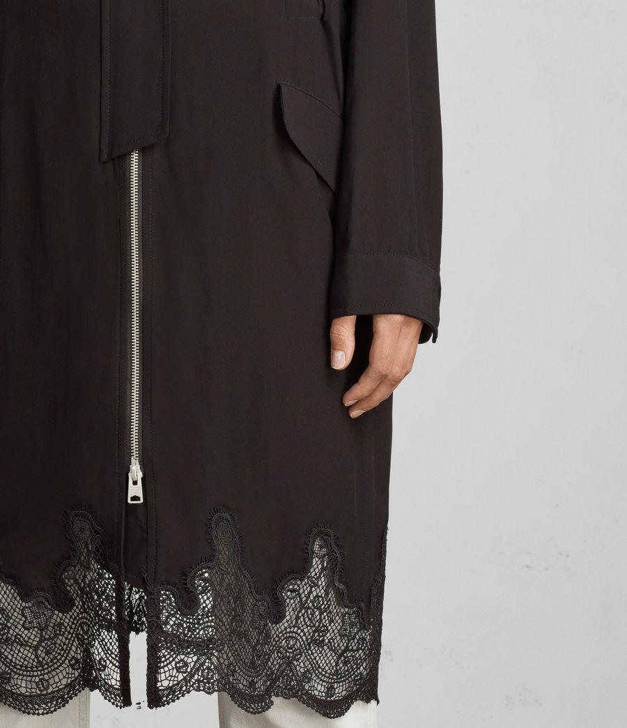 Femmes Parka à Dentelle Elio (black) - Image 4