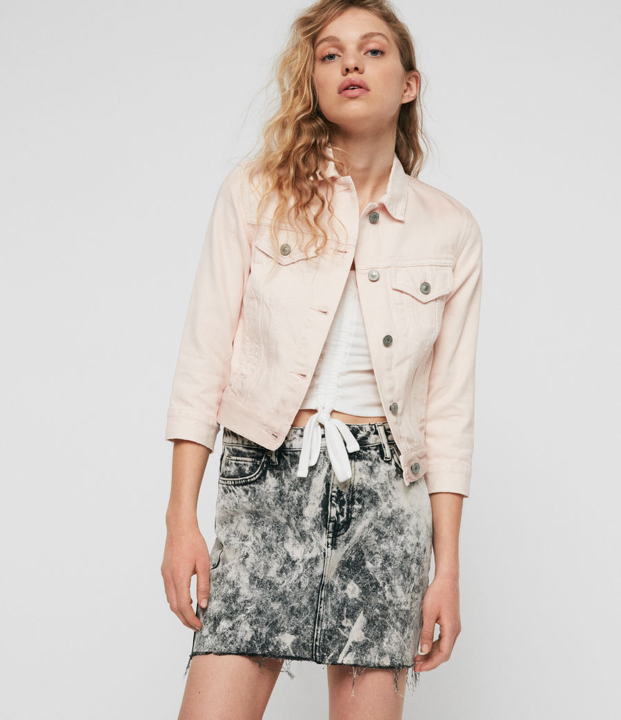 Womens Ruby Denim Jacket (pale_pink) - Image 1
