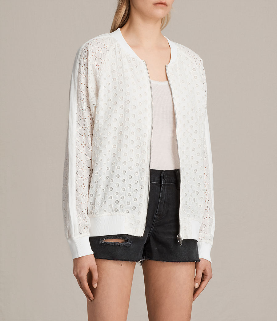Women's Cyndi Bomber Jacket (chalk_white) - Image 3