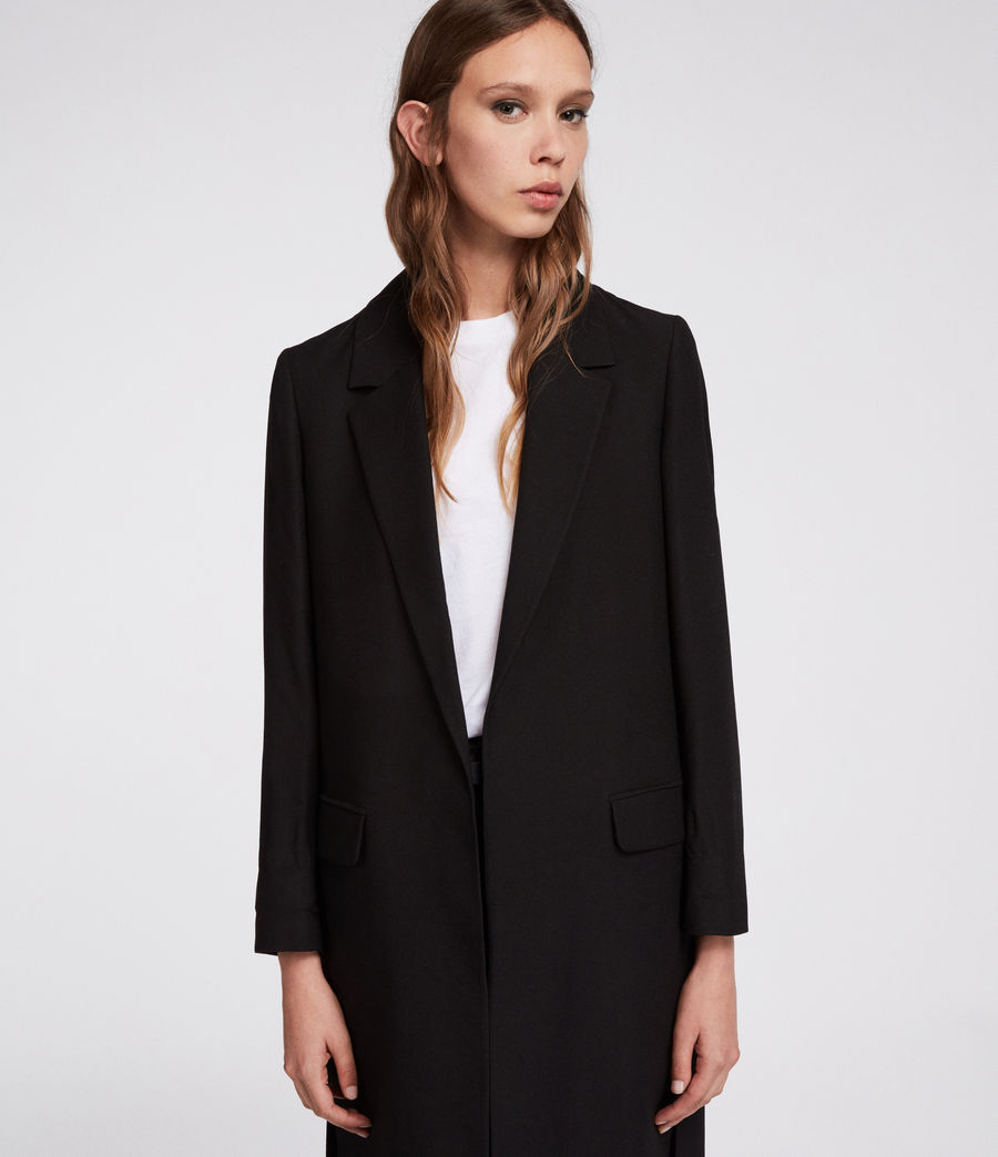 Womens Aleida Duster Coat (black) - Image 2