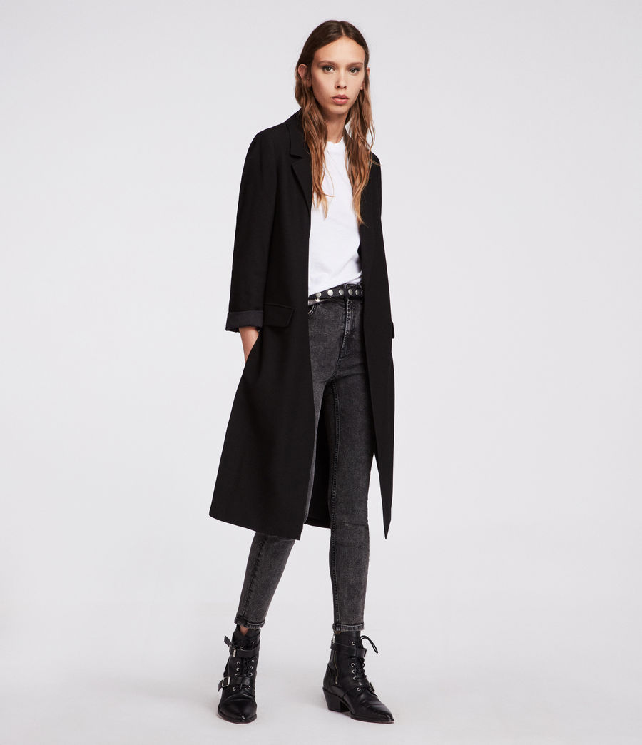 Womens Aleida Duster Coat (black) - Image 3