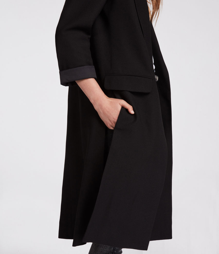 Womens Aleida Duster Coat (black) - Image 4