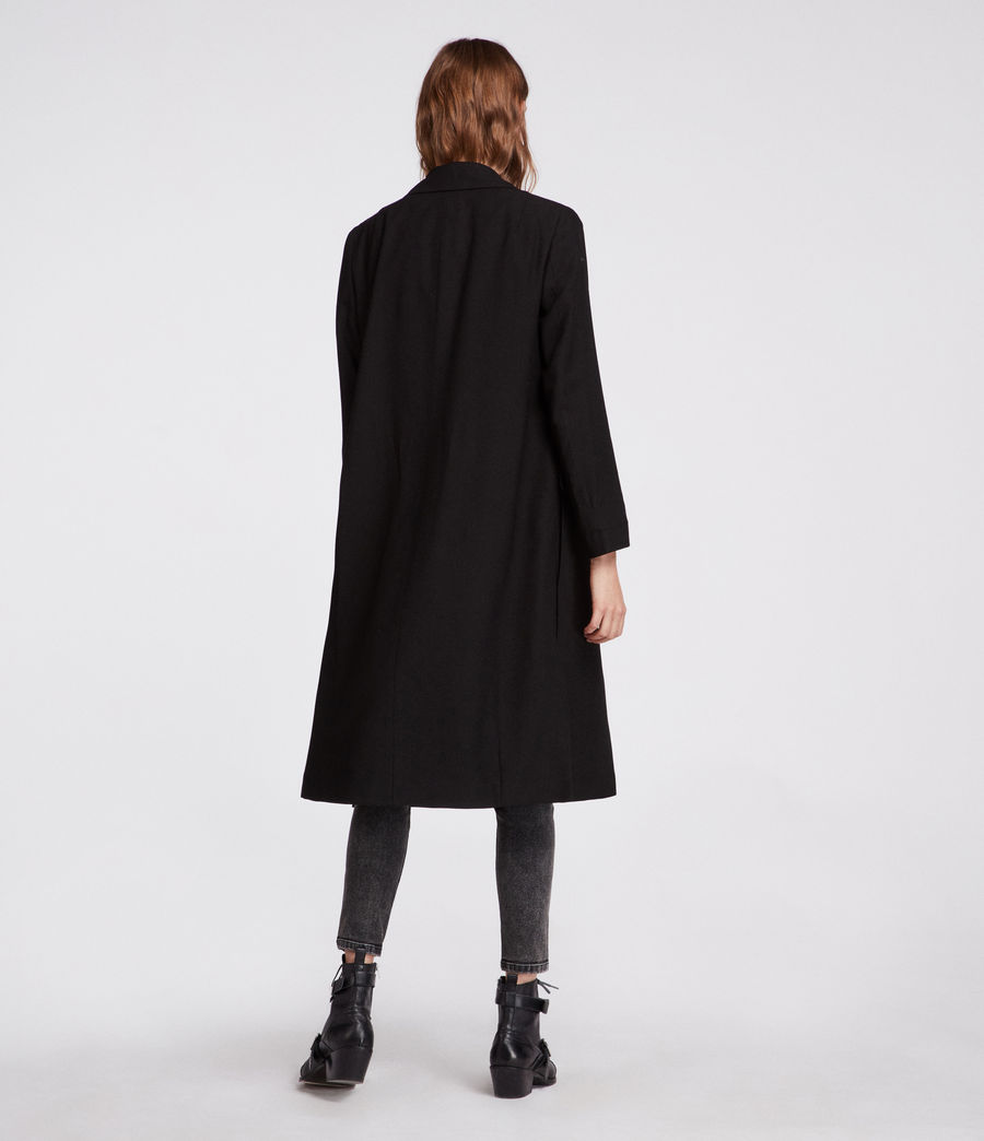 Womens Aleida Duster Coat (black) - Image 6