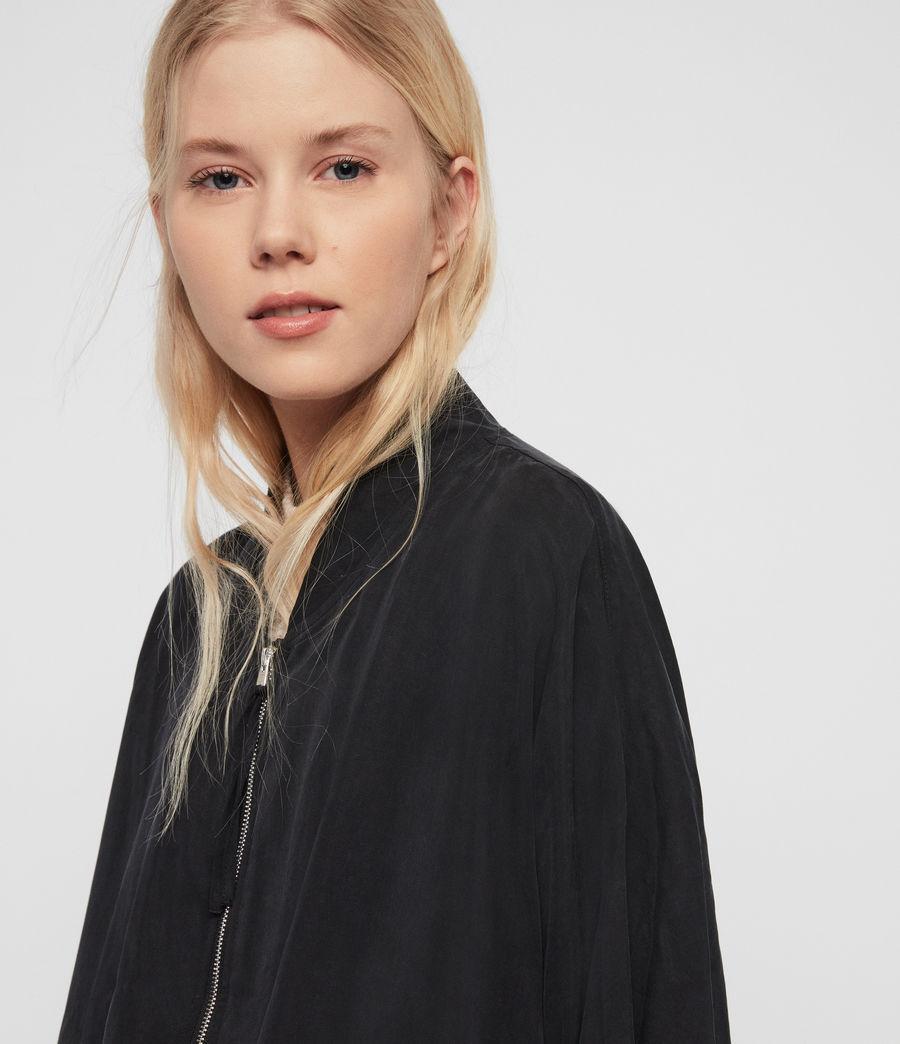 Damen Lyra Bomberjacke (black) - Image 4