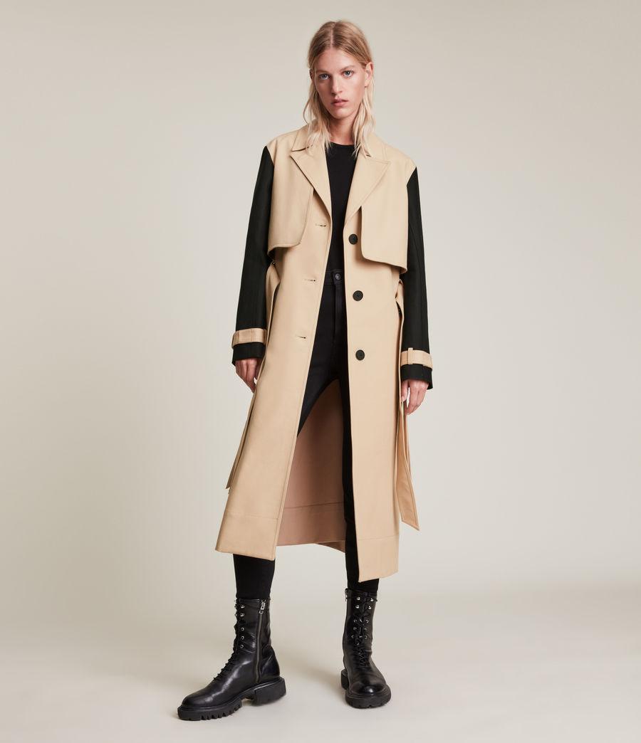 Damen Cade Trench Mantel (black_beige) - Image 1