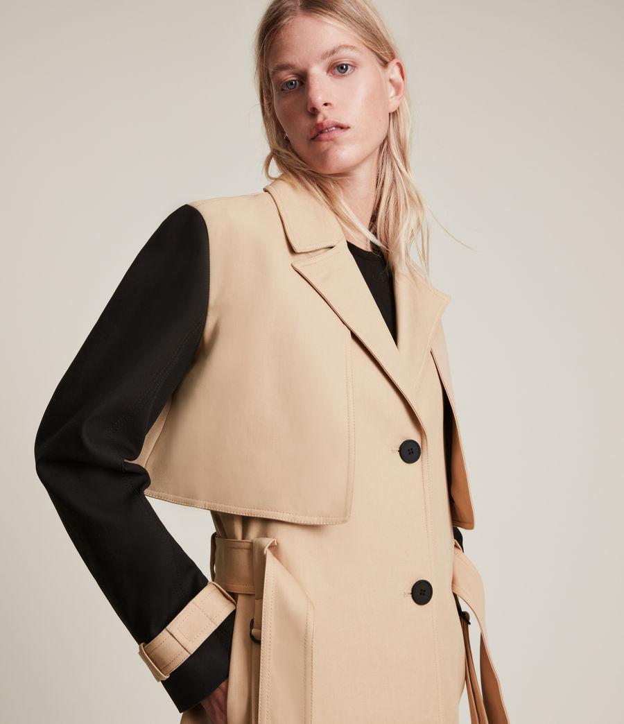 Damen Cade Trench Mantel (black_beige) - Image 2