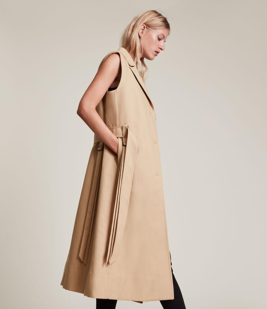 Damen Cade Trench Mantel (black_beige) - Image 3