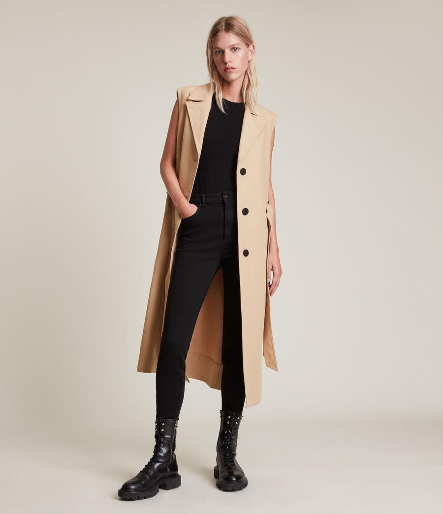 Damen Cade Trench Mantel (black_beige) - Image 4