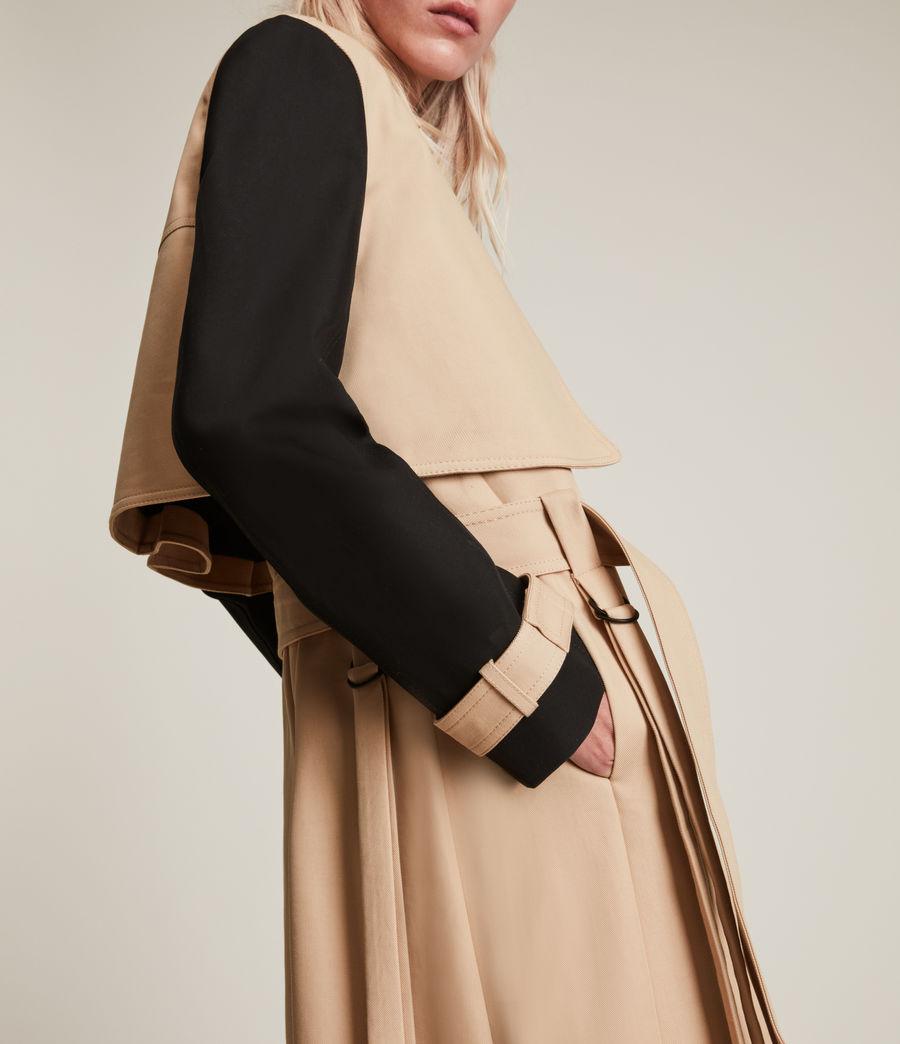 Damen Cade Trench Mantel (black_beige) - Image 5