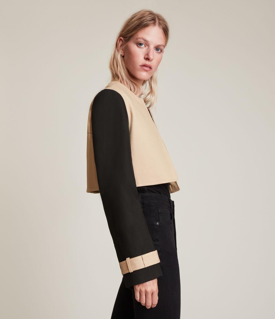 Damen Cade Trench Mantel (black_beige) - Image 6