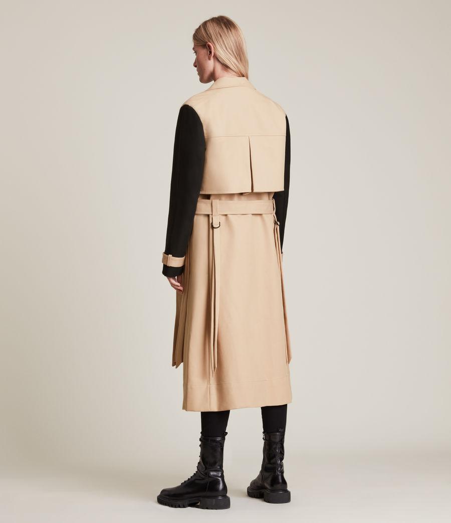 Damen Cade Trench Mantel (black_beige) - Image 7