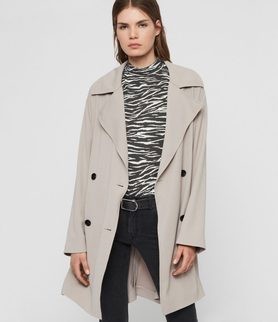 Womens Nadria Trench Coat (latte_beige) - Image 1