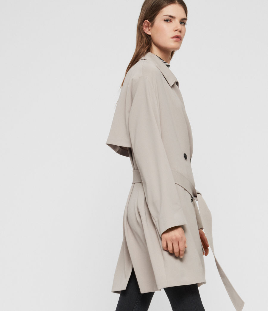 Womens Nadria Trench Coat (latte_beige) - Image 2