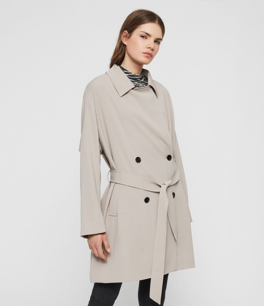 Womens Nadria Trench Coat (latte_beige) - Image 4