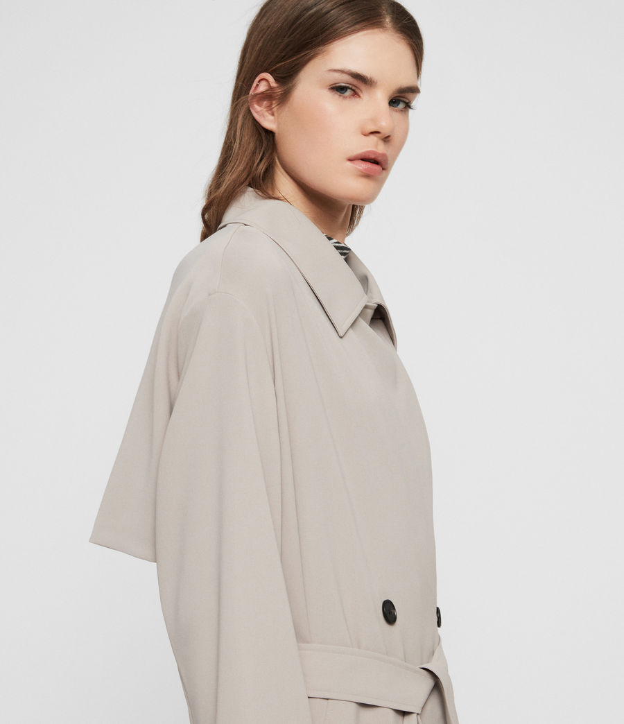 Womens Nadria Trench Coat (latte_beige) - Image 5