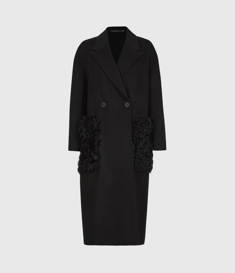 Womens Maddie Wool Blend Coat (black) - Image 2