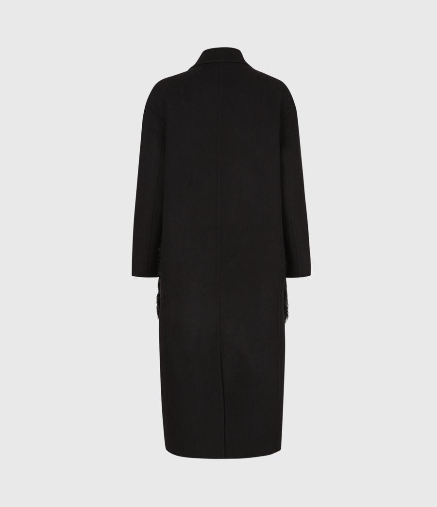 Womens Maddie Wool Blend Coat (black) - Image 3