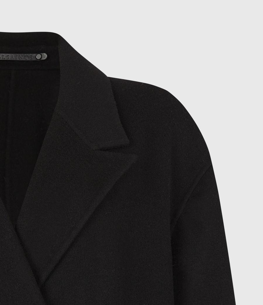 Womens Maddie Wool Blend Coat (black) - Image 5