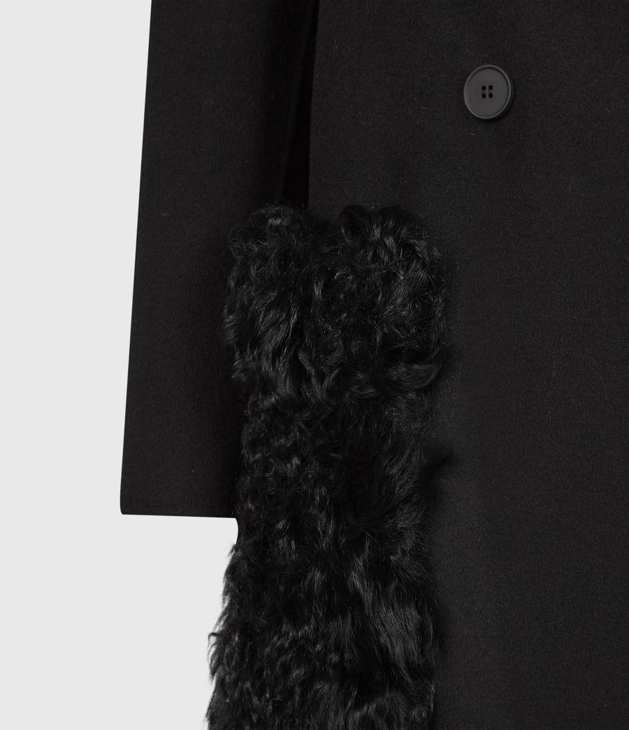 Womens Maddie Wool Blend Coat (black) - Image 6