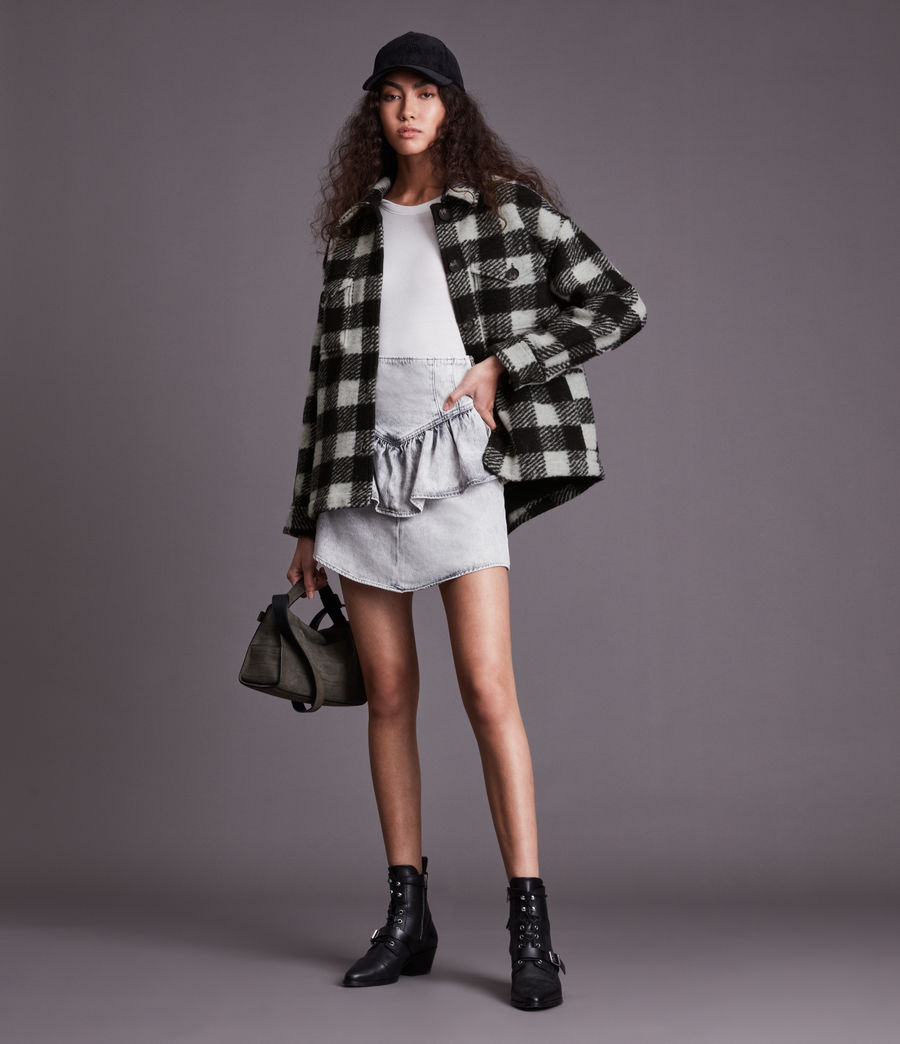 Women's Fenix Check Jacket (black_white) - Image 1
