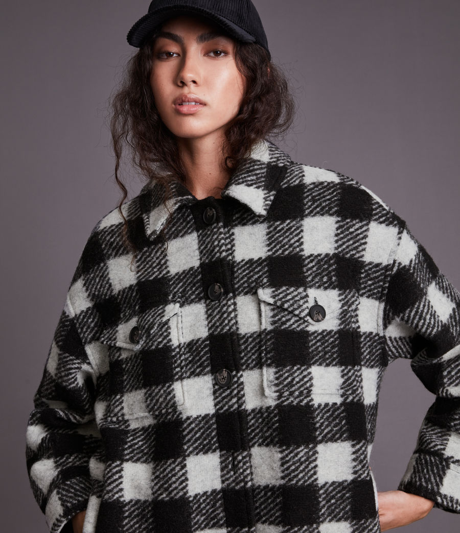 Women's Fenix Check Jacket (black_white) - Image 2
