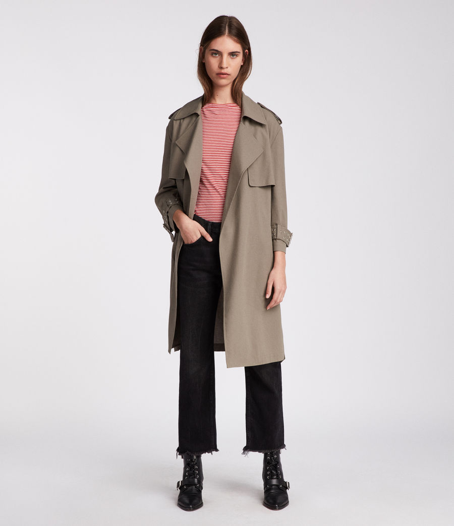 Donne Trench Kay (mid_khaki_green) - Image 1