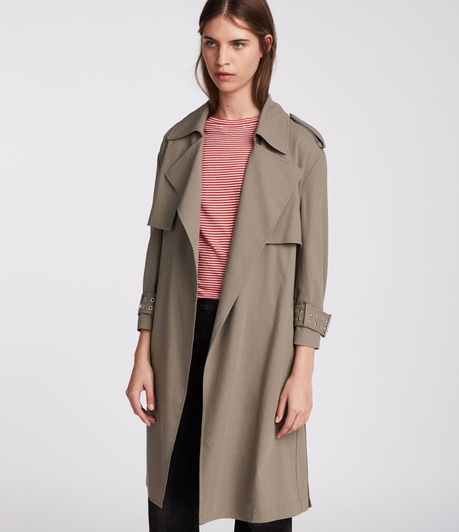 Donne Trench Kay (mid_khaki_green) - Image 2