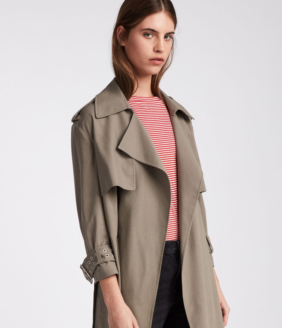 Donne Trench Kay (mid_khaki_green) - Image 3