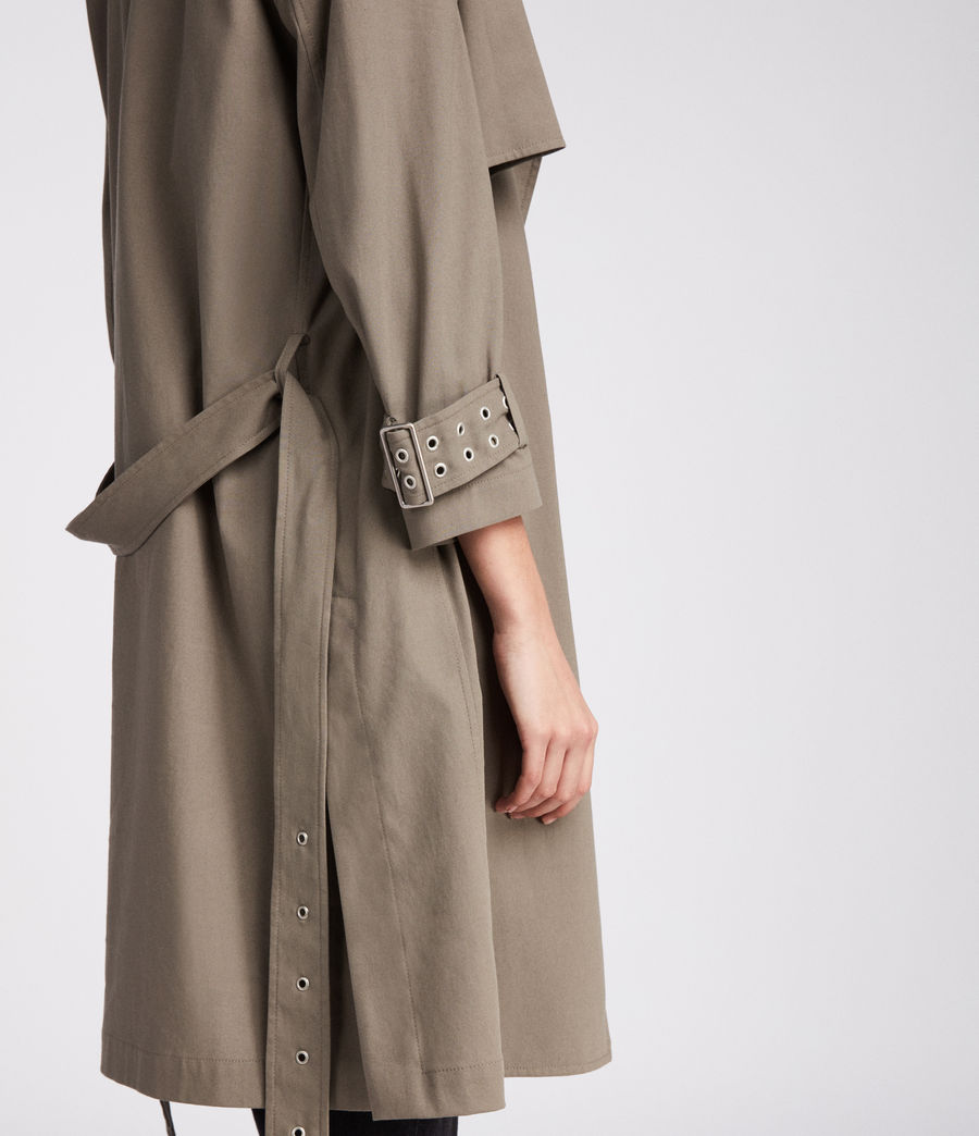 Donne Trench Kay (mid_khaki_green) - Image 4
