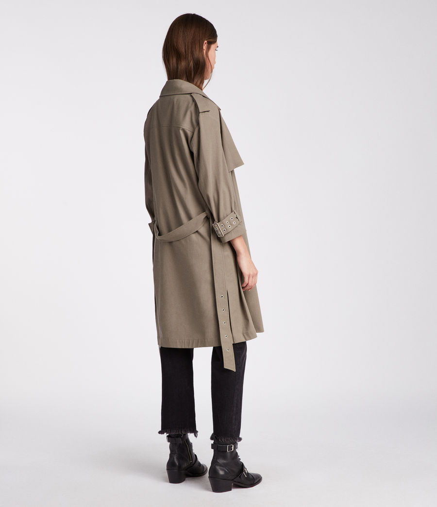 Donne Trench Kay (mid_khaki_green) - Image 5