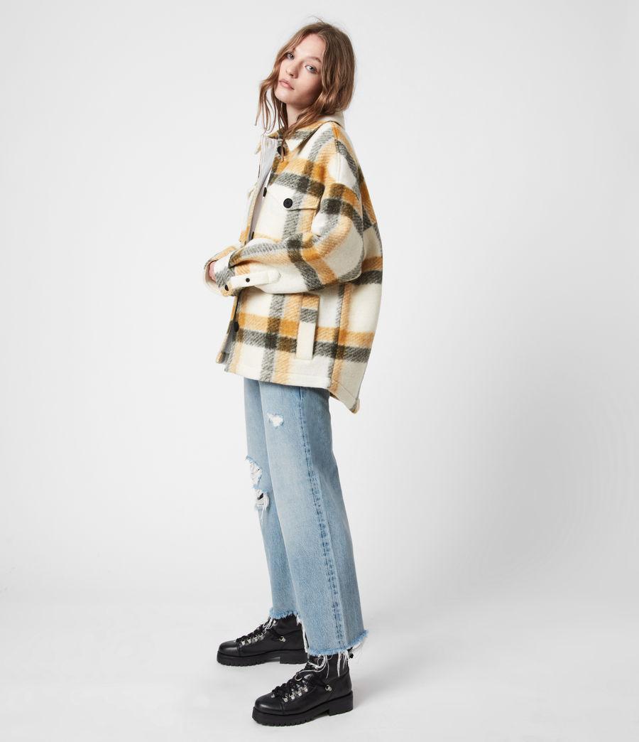 Damen Fenix Check Jacket (ecru_white_mustard) - Image 1