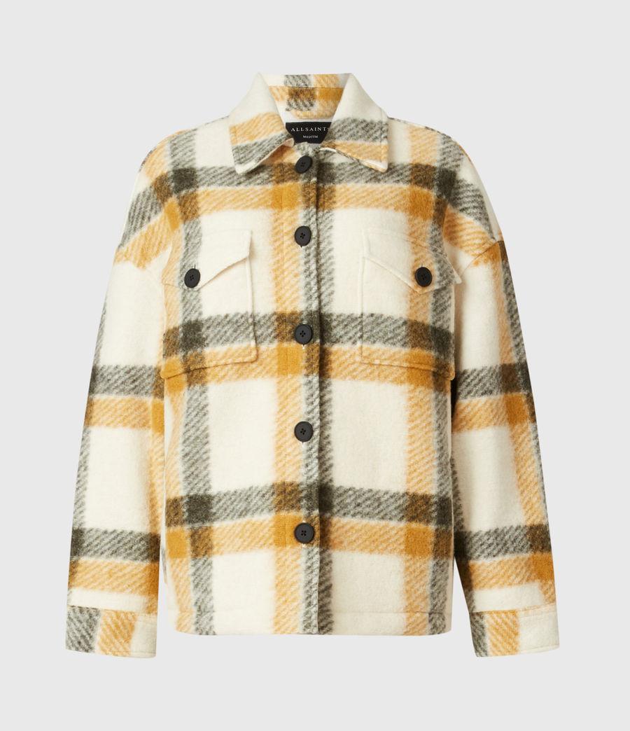 Damen Fenix Check Jacket (ecru_white_mustard) - Image 2