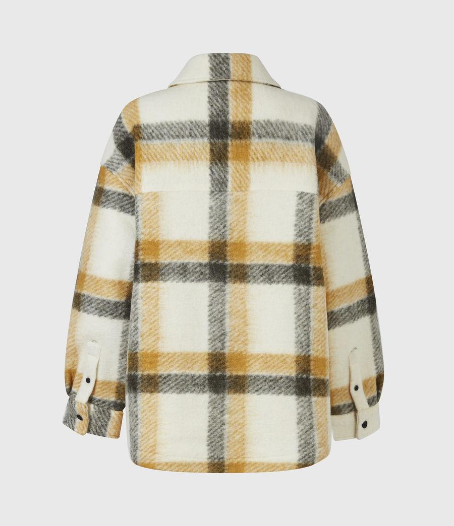 Damen Fenix Check Jacket (ecru_white_mustard) - Image 3