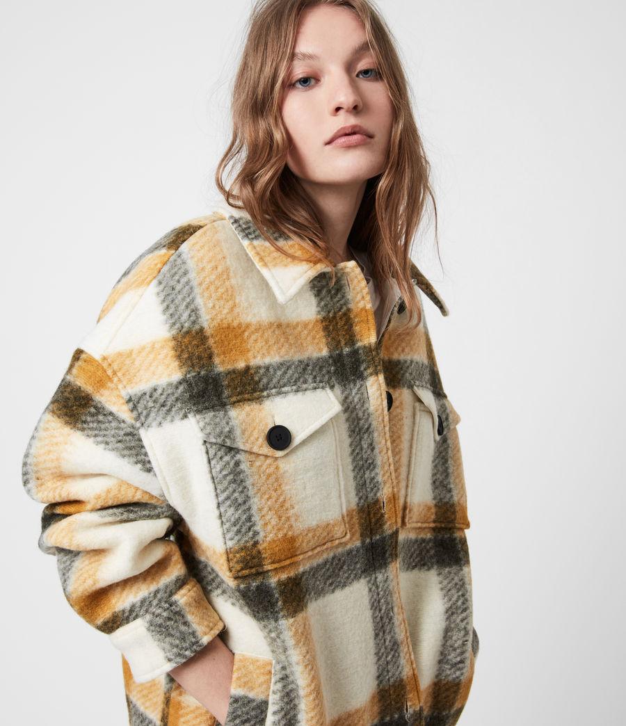 Damen Fenix Check Jacket (ecru_white_mustard) - Image 4