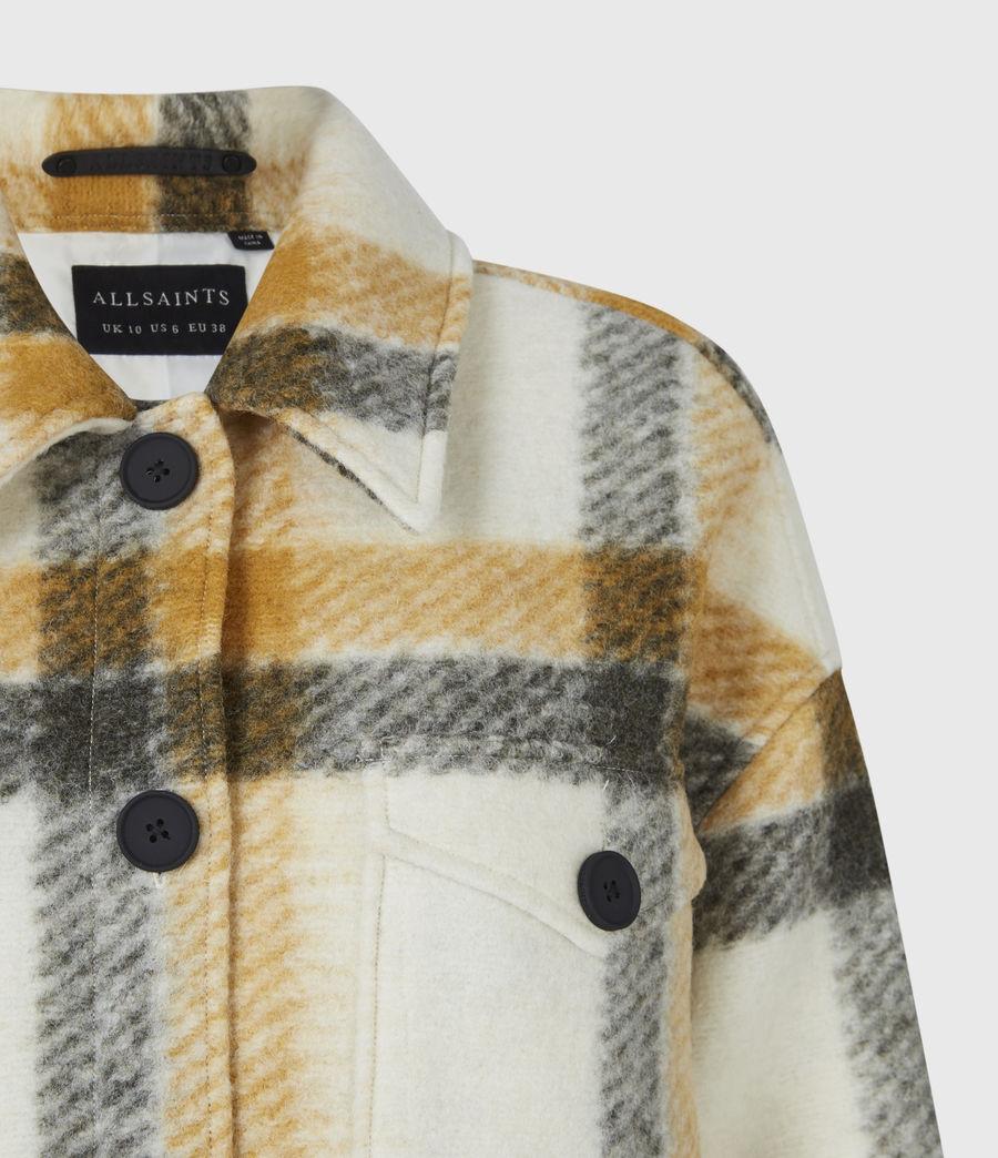 Damen Fenix Check Jacket (ecru_white_mustard) - Image 5