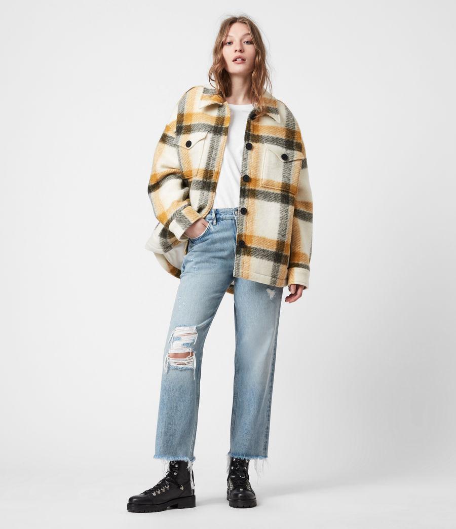 Damen Fenix Check Jacket (ecru_white_mustard) - Image 6