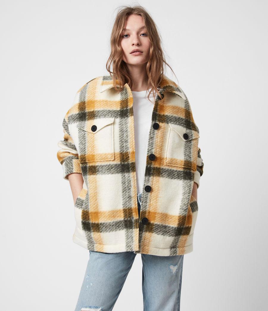 Damen Fenix Check Jacket (ecru_white_mustard) - Image 7