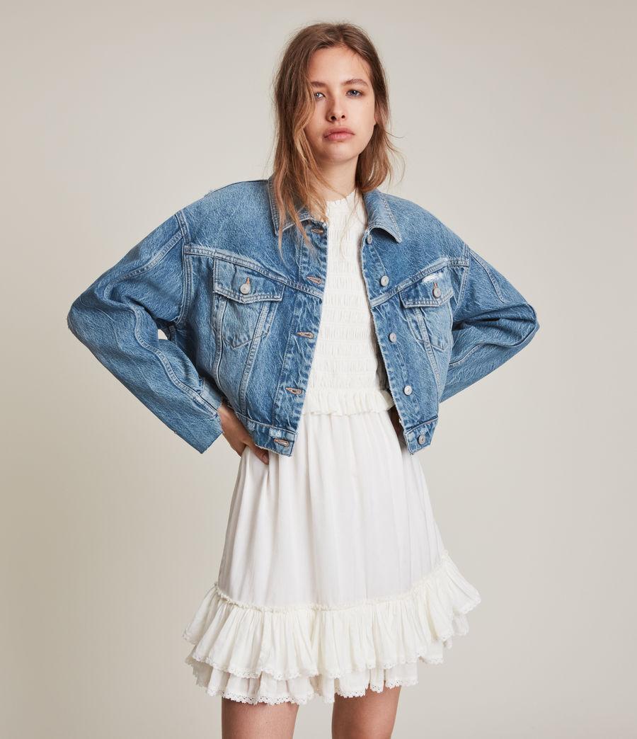 Damen Beth Patch Denim Jacket (washed_indigo) - Image 2