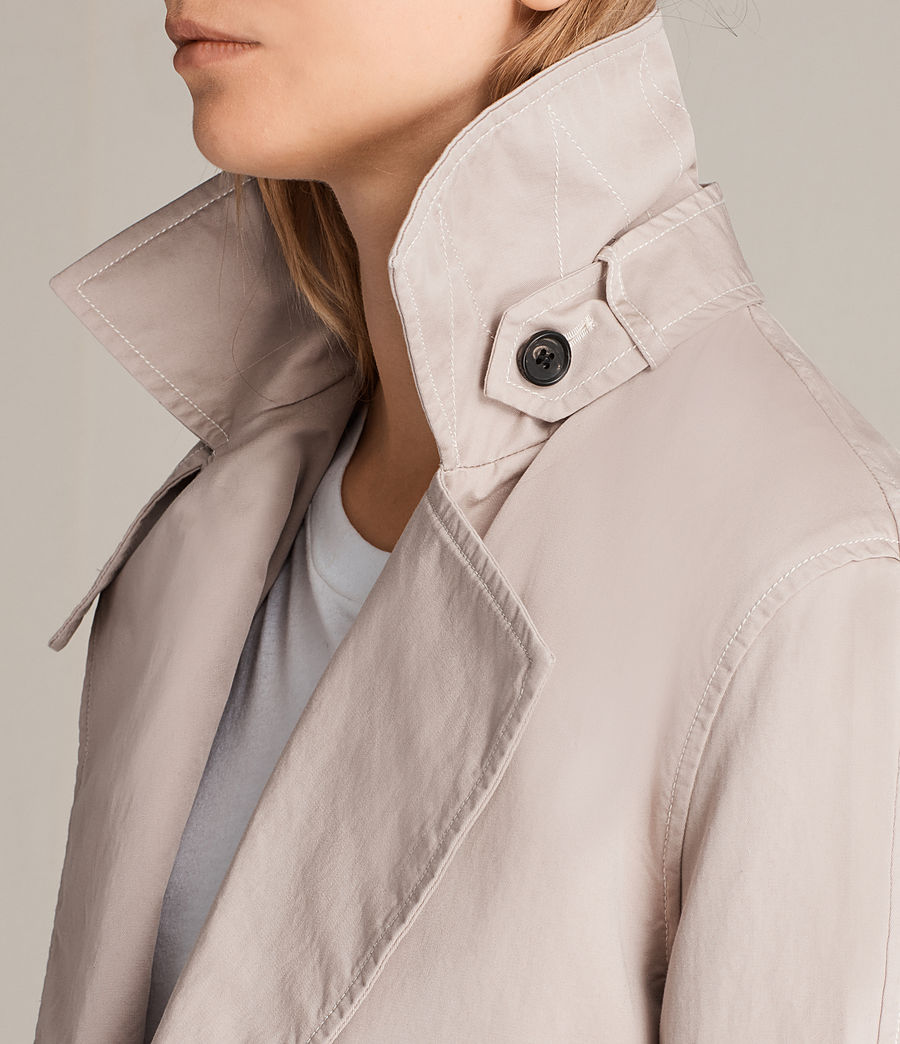 Women's Luna Stitch Twill Mac (dusty_pink) - Image 3