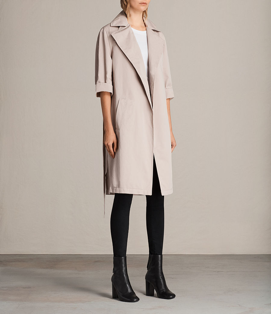 Donne Trench Luna in twill (dusty_pink) - Image 4