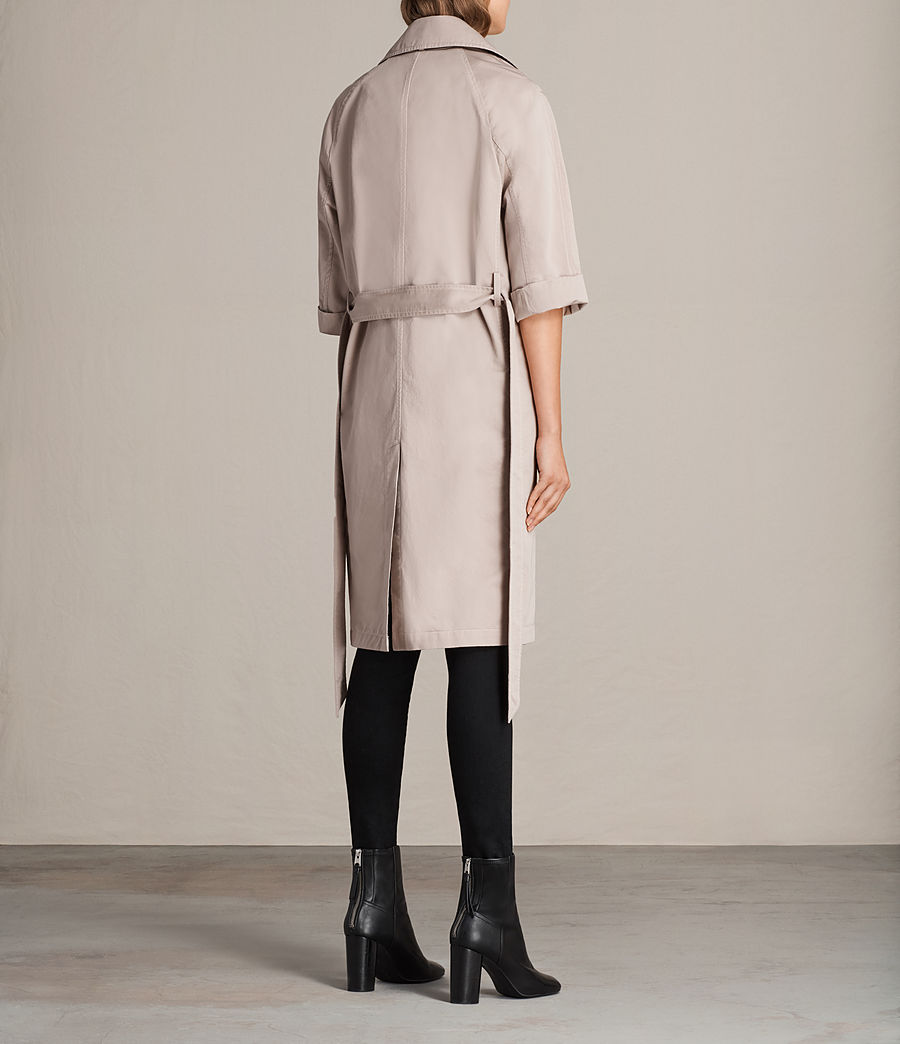 Donne Trench Luna in twill (dusty_pink) - Image 6