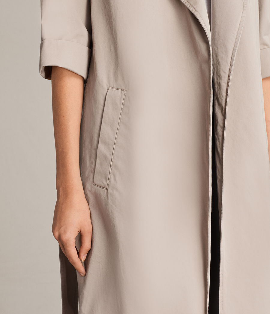 Donne Trench Luna in twill (putty_grey) - Image 4