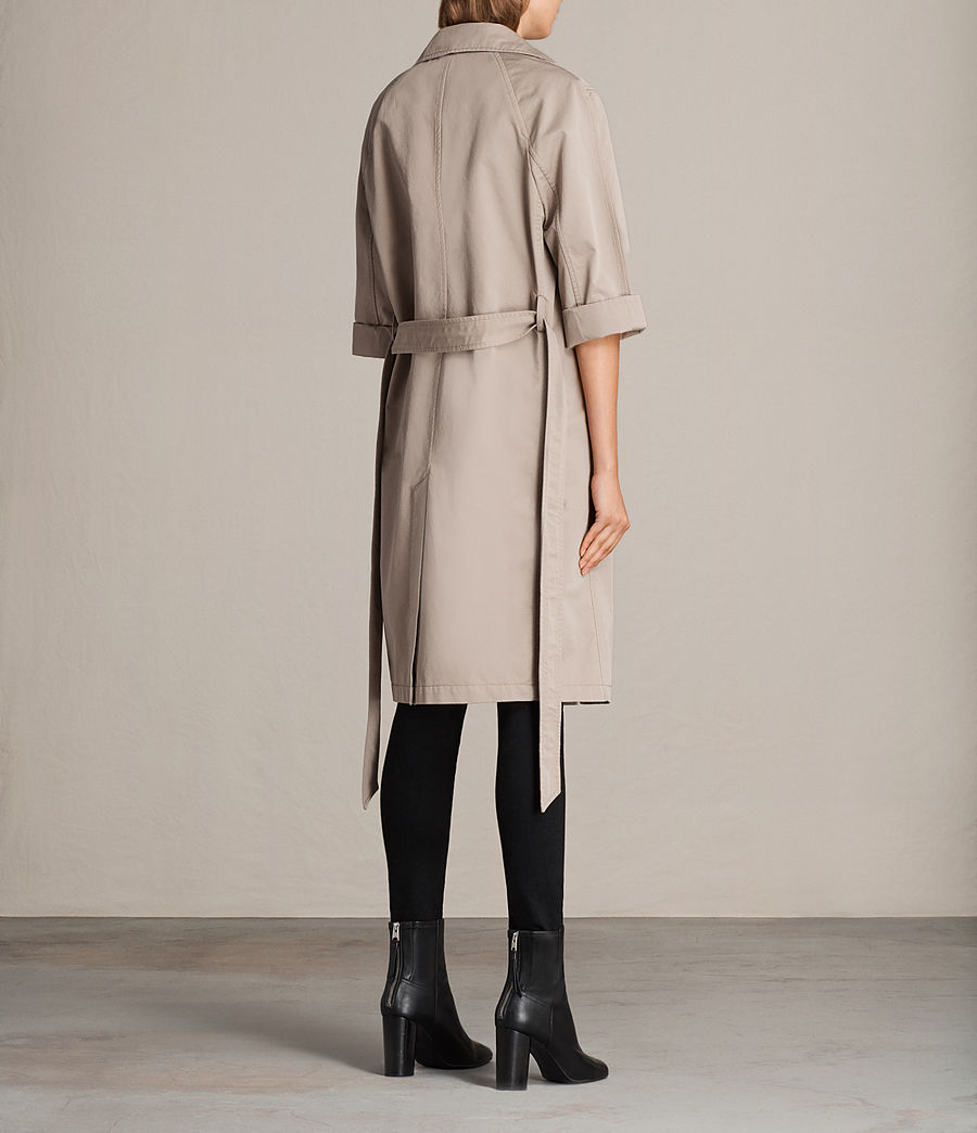 Donne Trench Luna in twill (putty_grey) - Image 6
