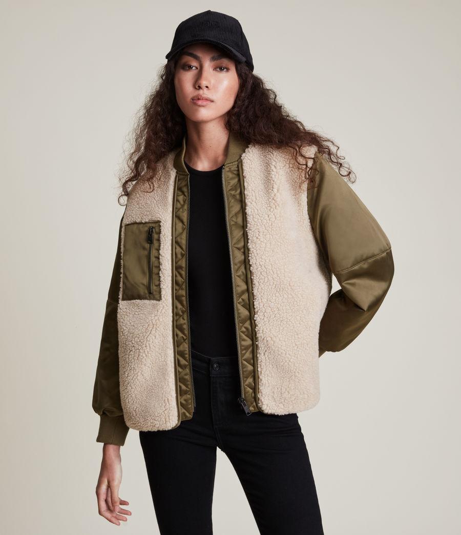 Damen Suri Bomber Jacket (khaki_ivory) - Image 1